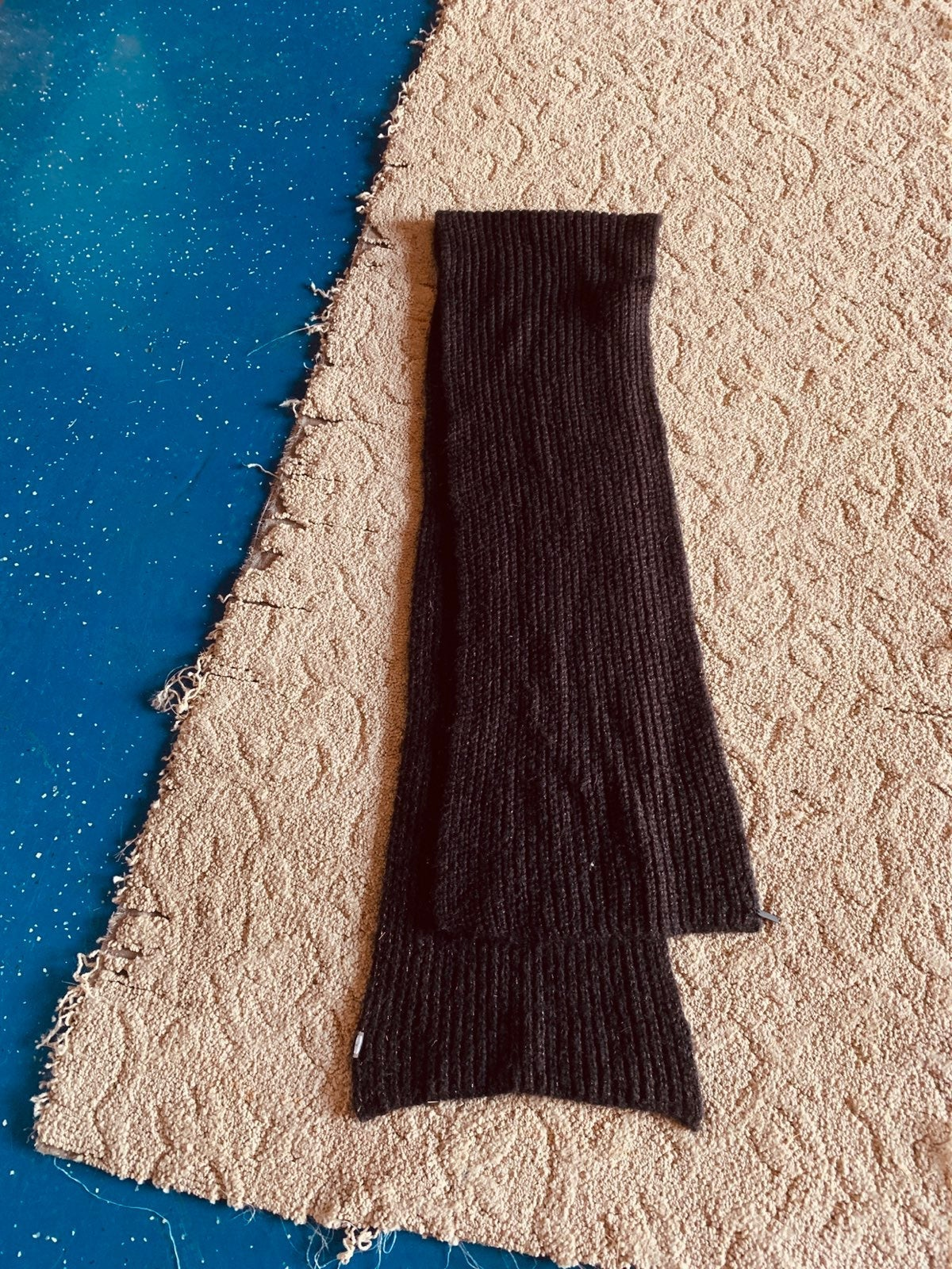 Vintage Calvin Klein Black Acrylic Scarf