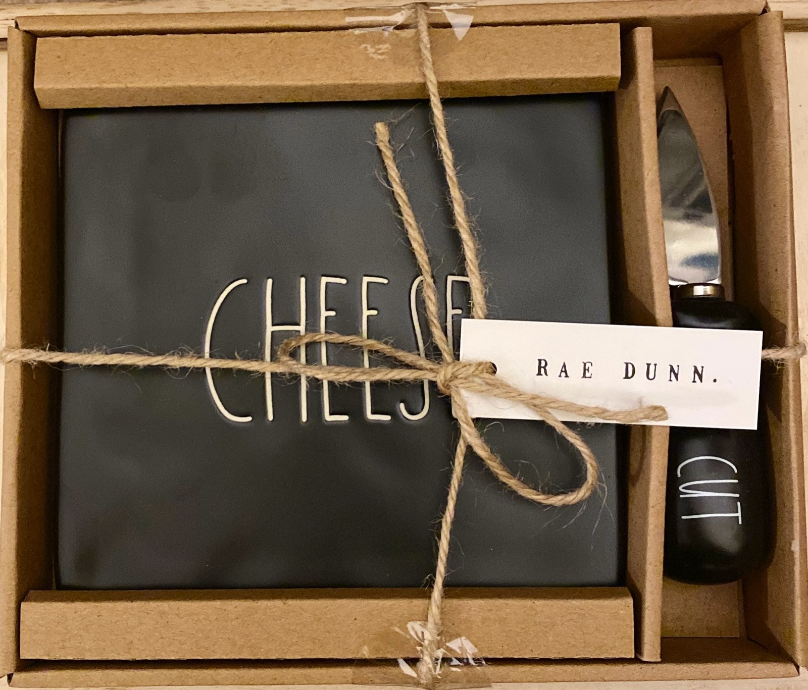 Rae Dunn Cheese plate set