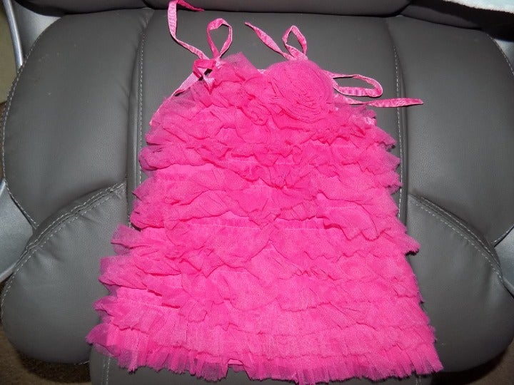 MUDPIE BOUTIQUE BRIGHT PINK TULLE DRESS