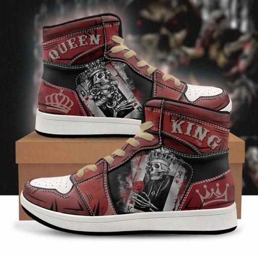 King / Queen Custom Sneaker Shoes, Skull Print