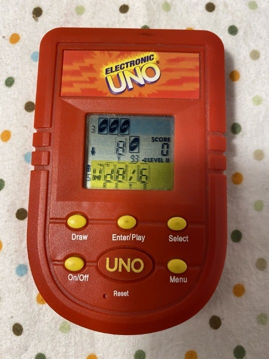 Electronic Uno Hand Held Game - 2001