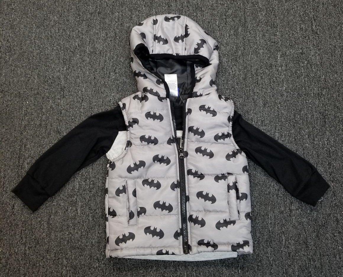 Boys Batman vest and shirt set 2T