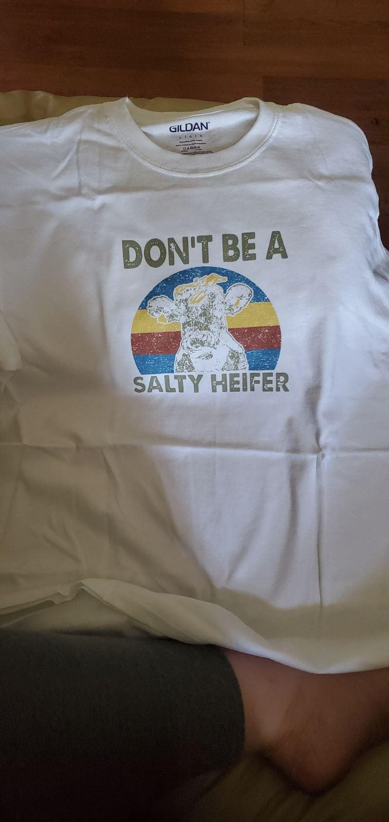 Handmade sublimated heifer tshirt