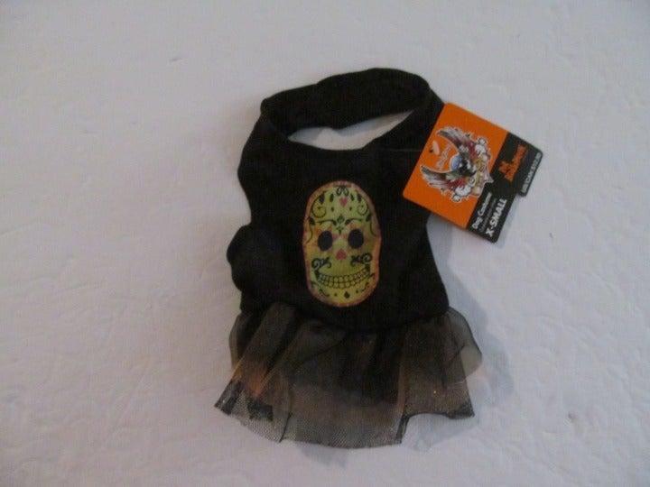 Brett Michaels Dog Skull Dress, EXsmall