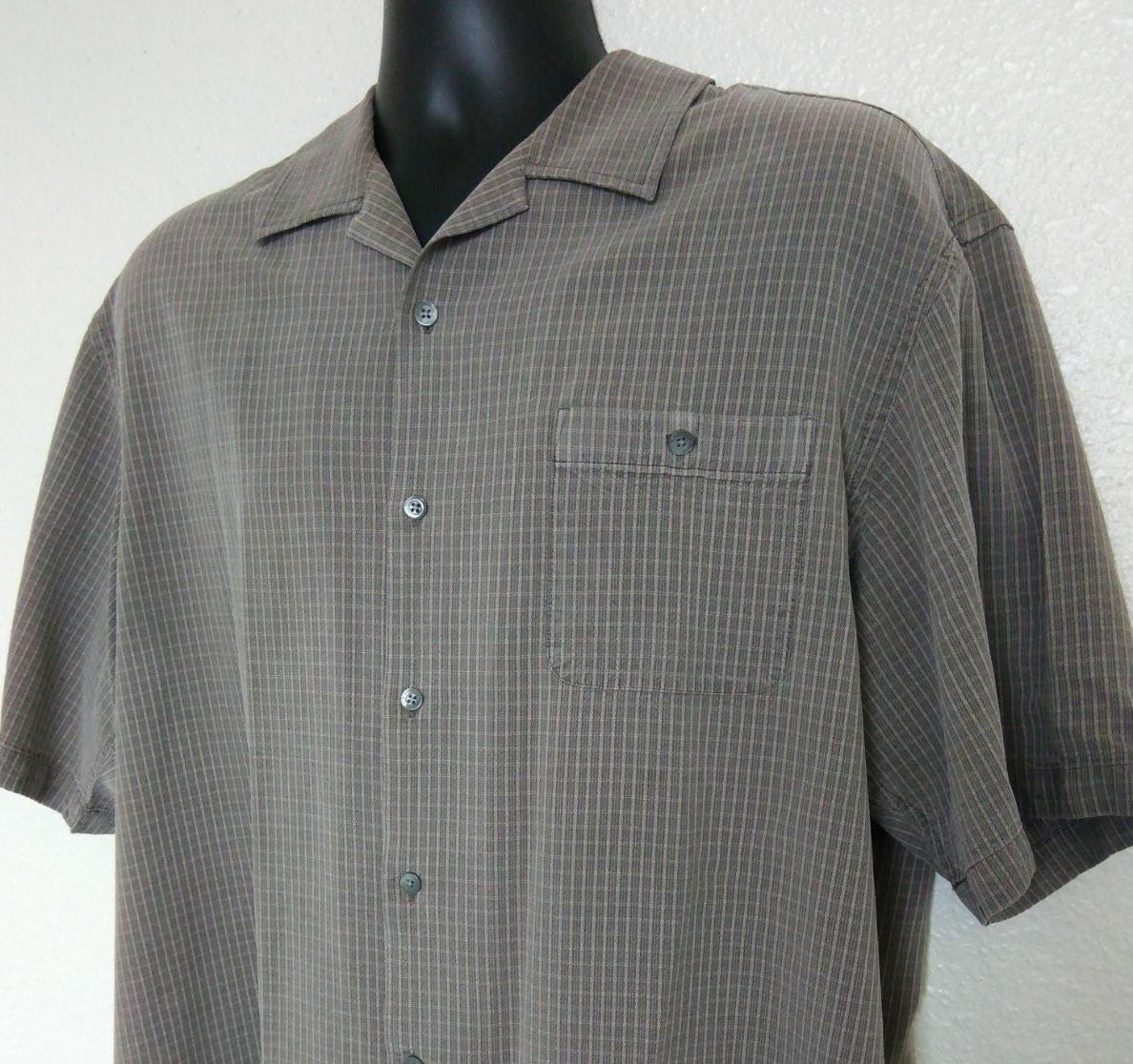 Talbots Mens 2XL Shirt Silk Button Up S/