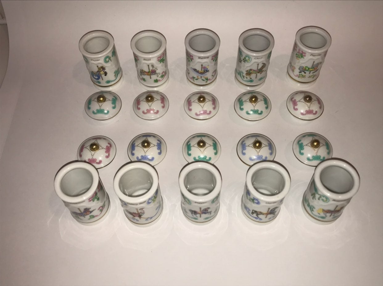 Lenox Lot Of Spice Containers Rosemary