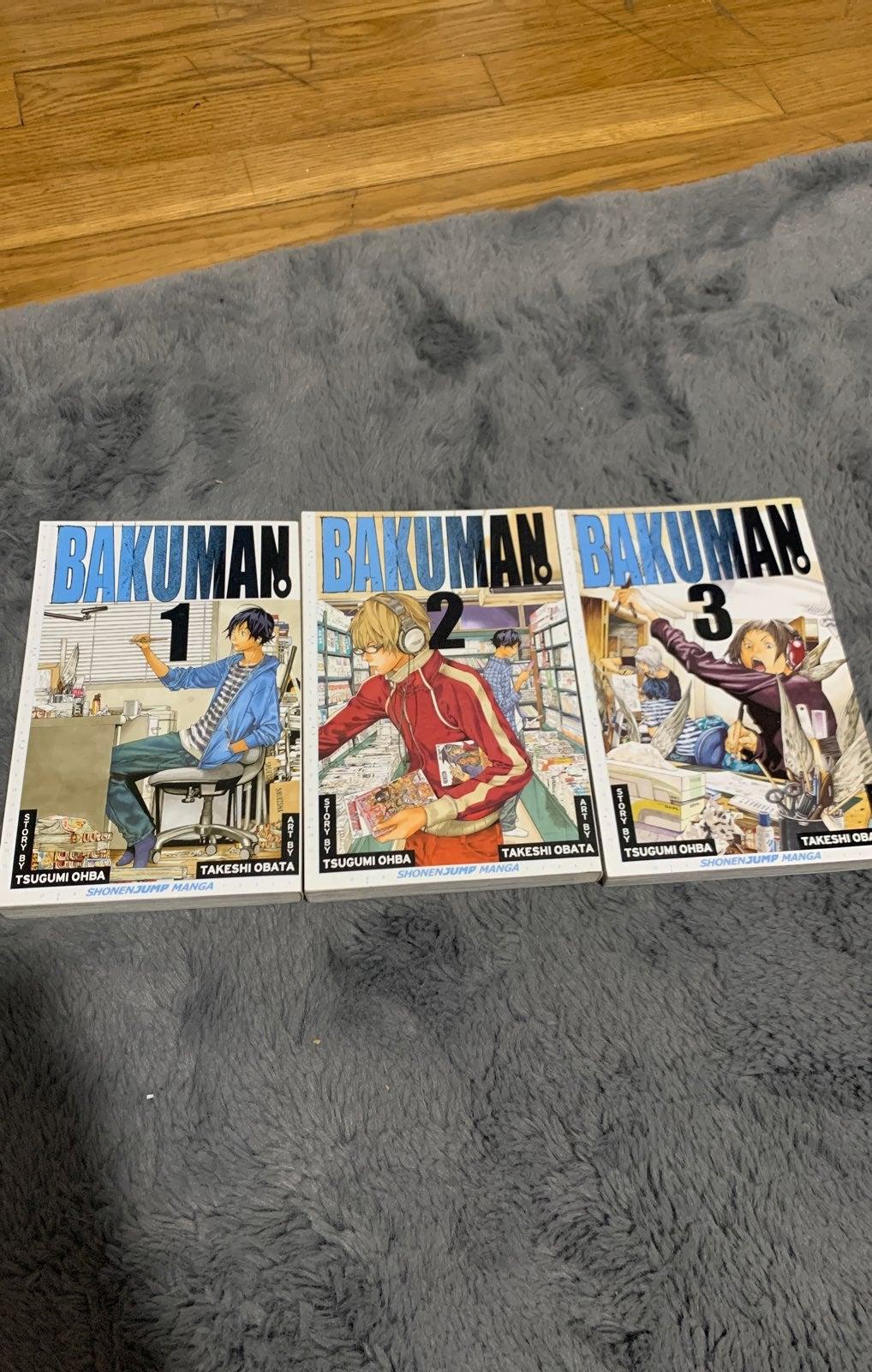 Bakuman Manga Volumes 1-3 Shonen Jump