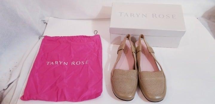 """Taryn Rose """"Kamille"""" Camel-LN Sling shoe"""