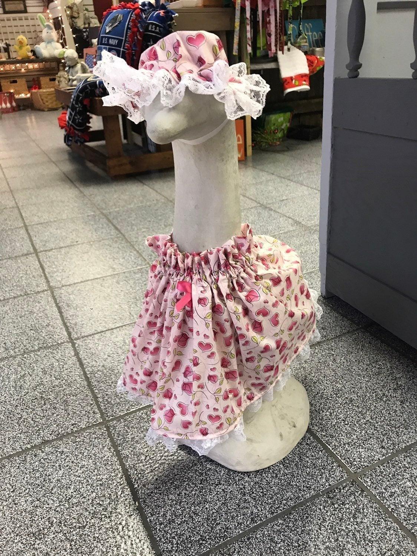 Large Goose Dress Valentine for Cement c
