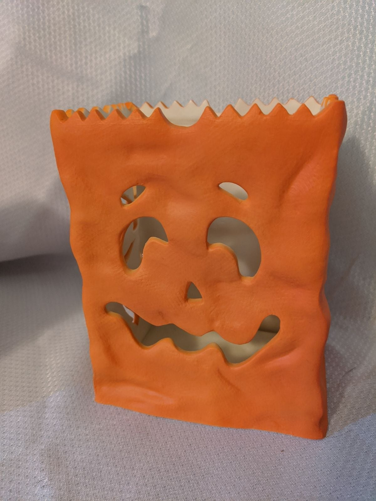 partylite Halloween pumpkin luminary