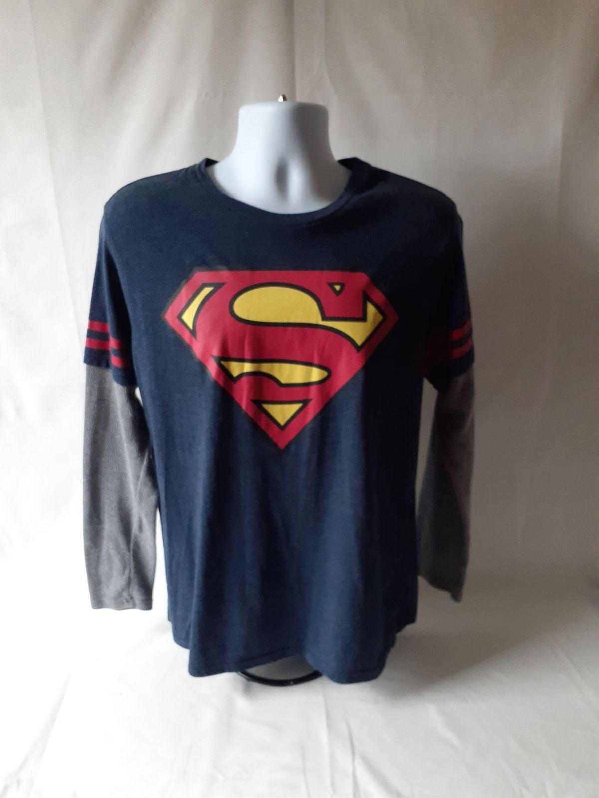 Superman men's long sleeve shirt