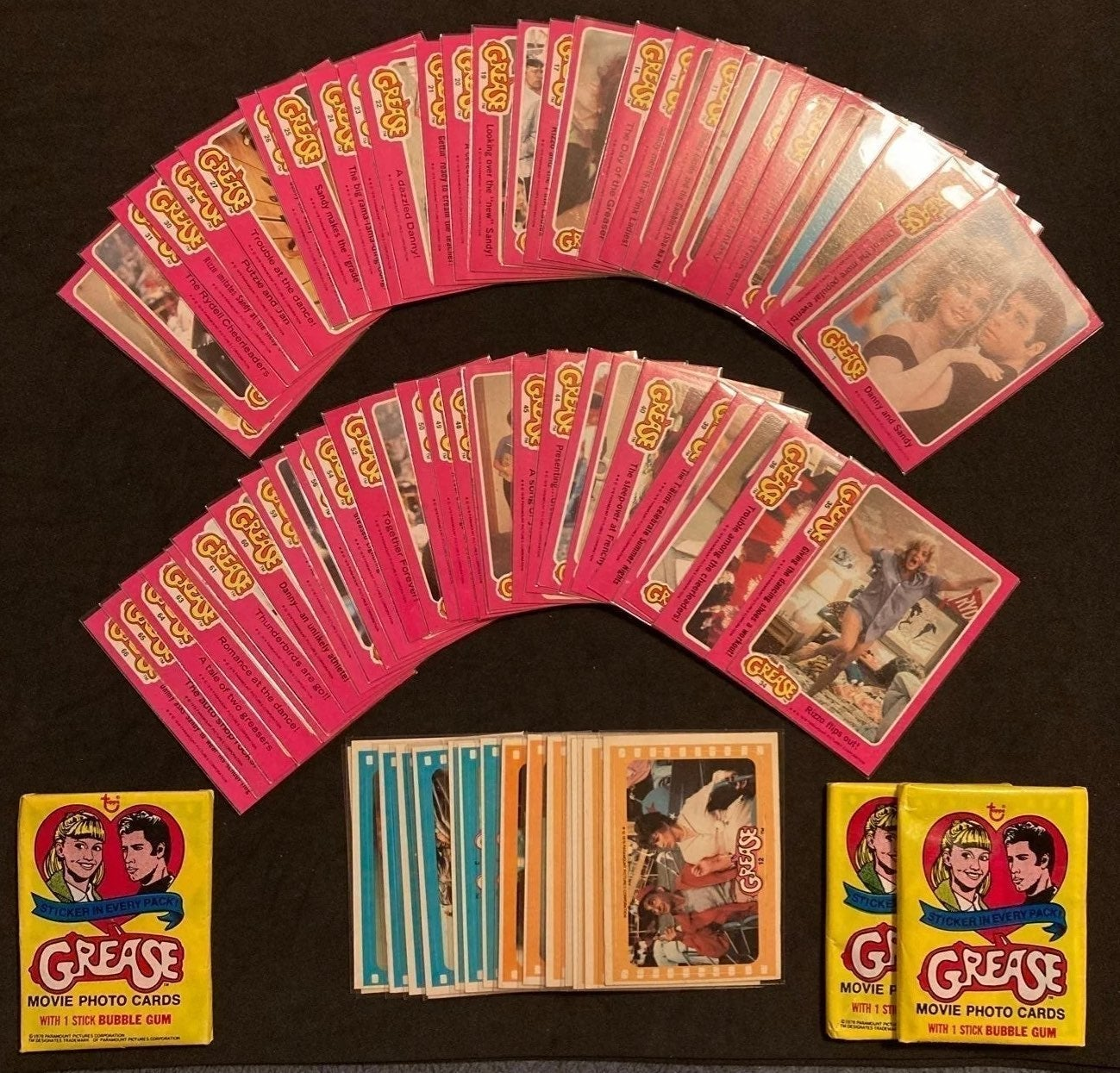1978 Grease Series 1 Trading card lot
