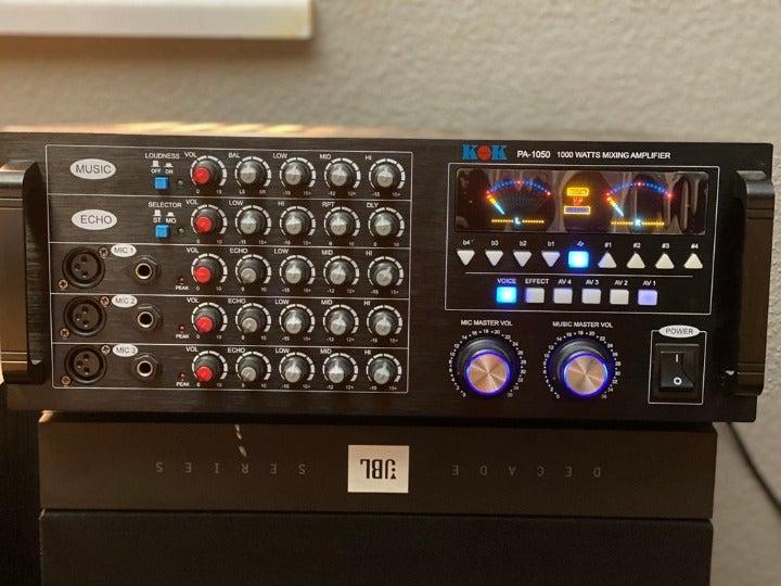 KOK AUDIO PA-1050 1000 WATT KARAOKE AMP