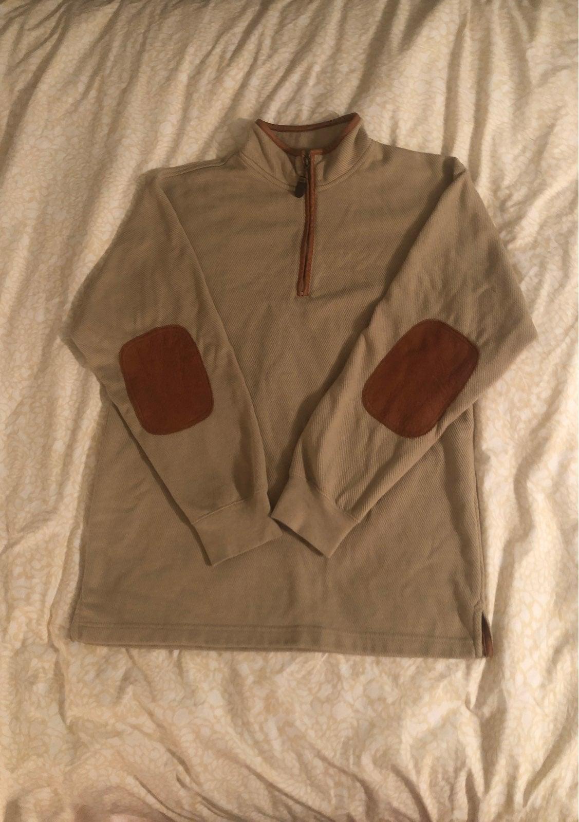 Orvis khaki 1/4 Zip Pullover Medium