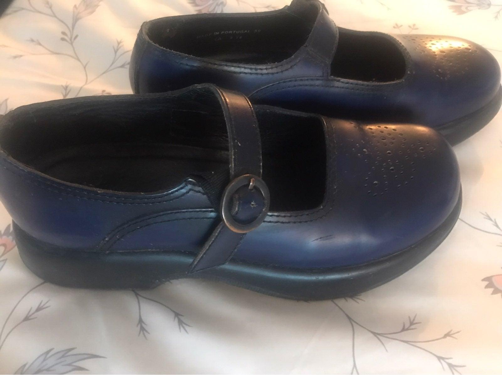 Dansko Navy Mary Jane Shoes 39 8.5 9