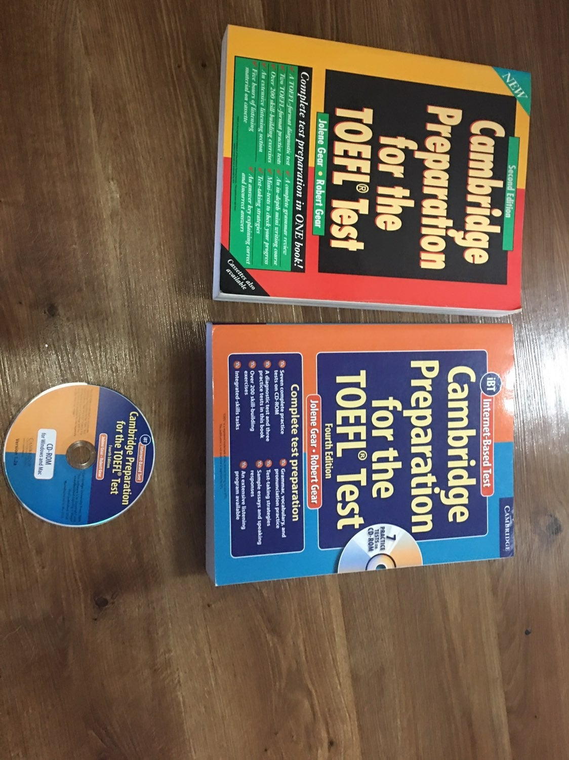 TOEFL IBT preparation books and cd