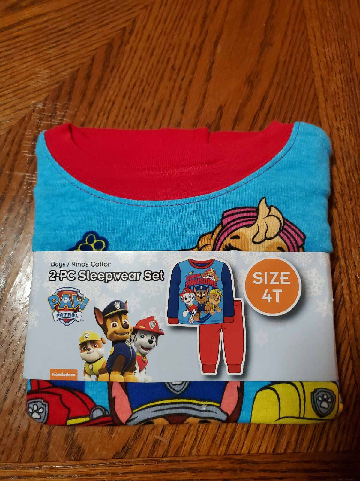Paw Patrol 2-PC Pajamas Size 4T