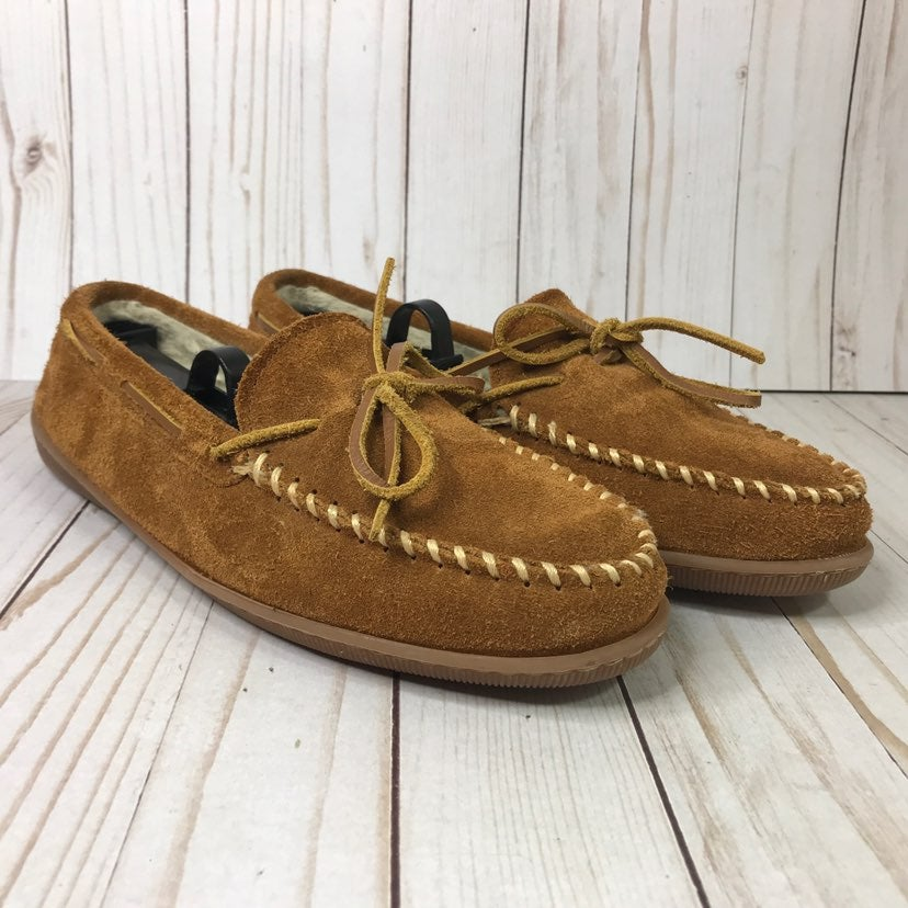 Minnetonka Suede Moccasin Slippers Lined