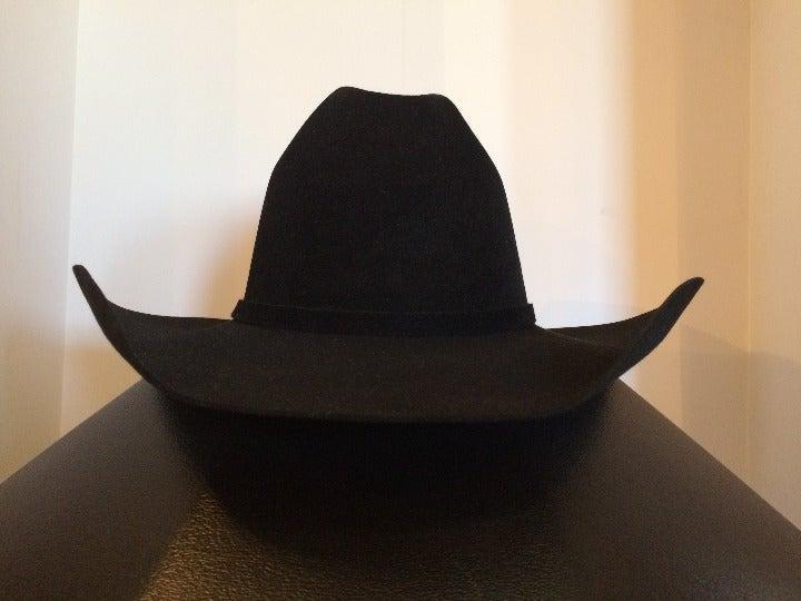 Used Resistol 20X Black Gold Cowboy Hat Black Size 7