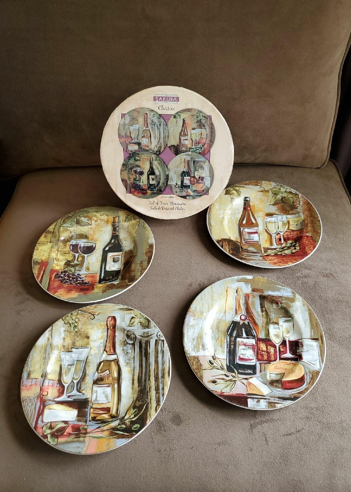 Sakura plate set