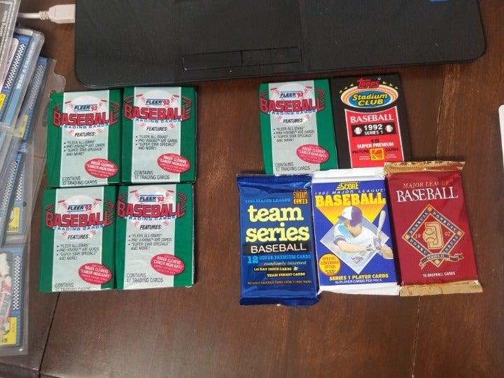 1992 vintage baseball wax packs unopened