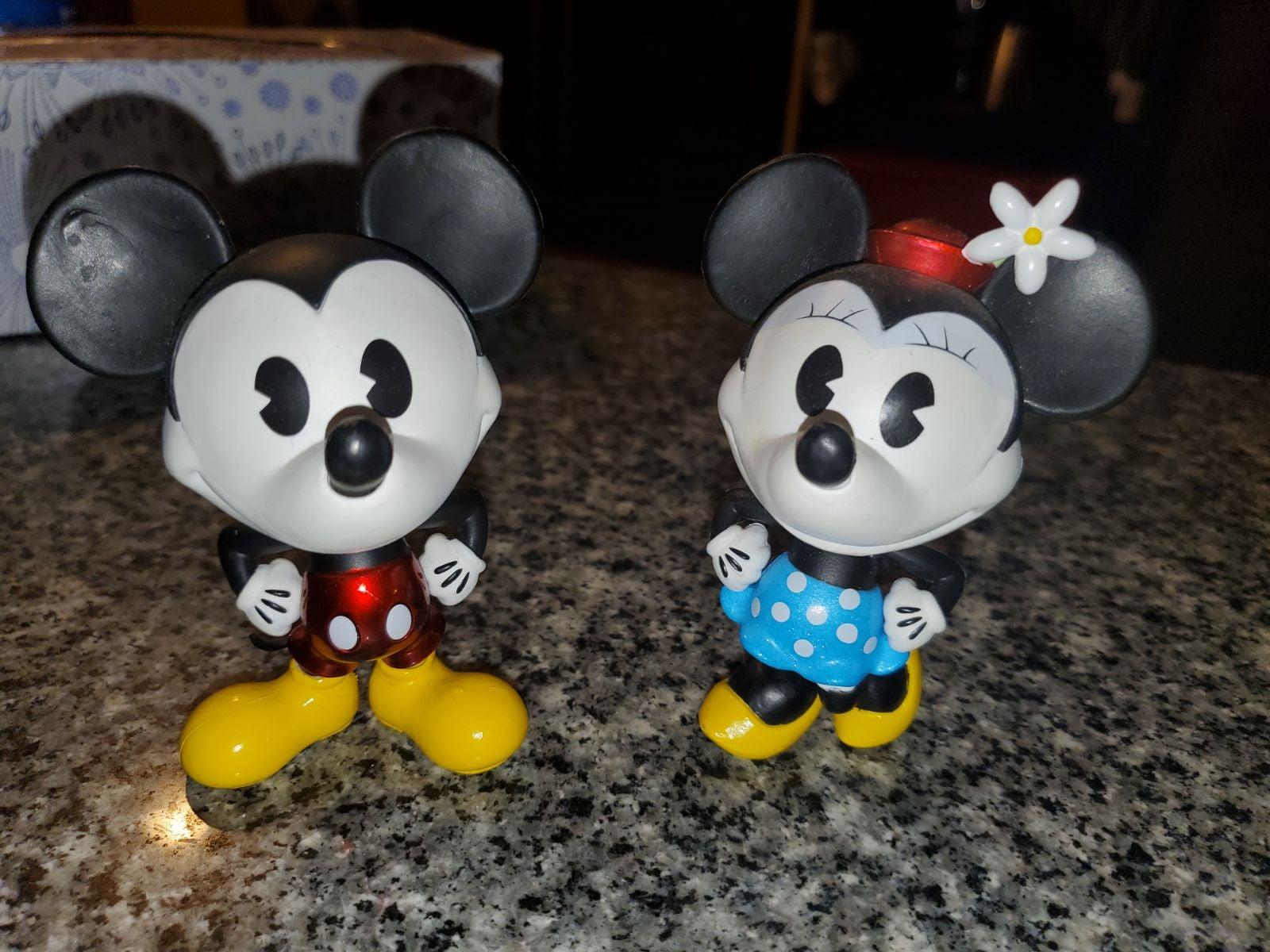 Mickey and Minnie Disney Metal Fig