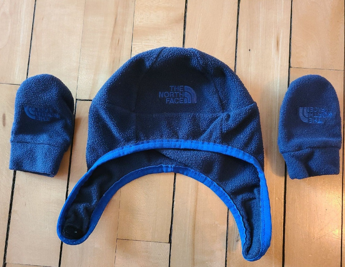 The North Face hat and mittens