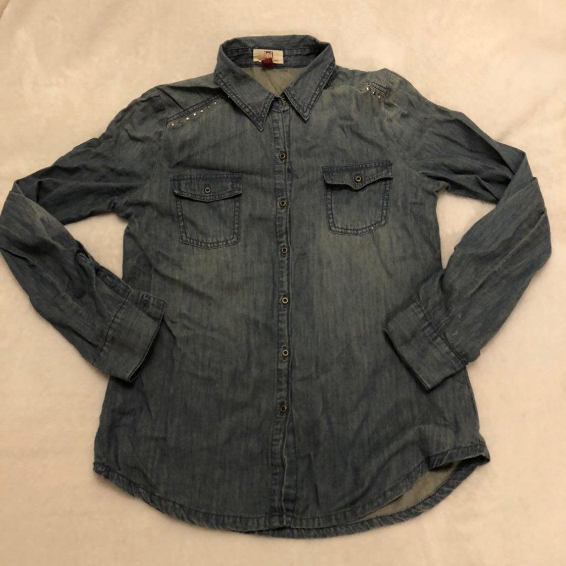 Button Up Denim Long Sleeve