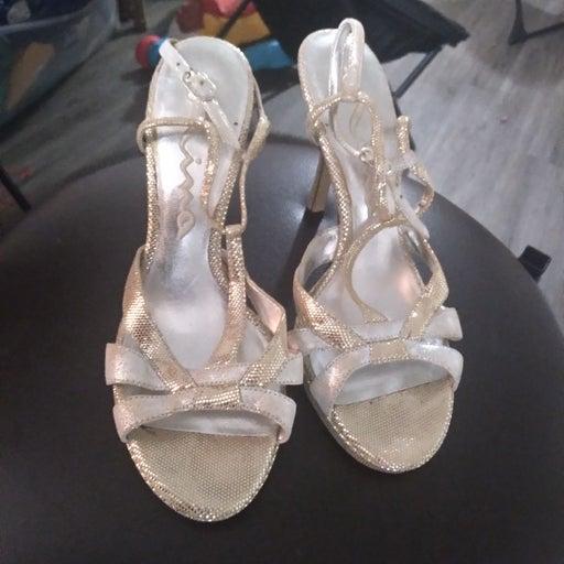 Vintage Metallic Sandals