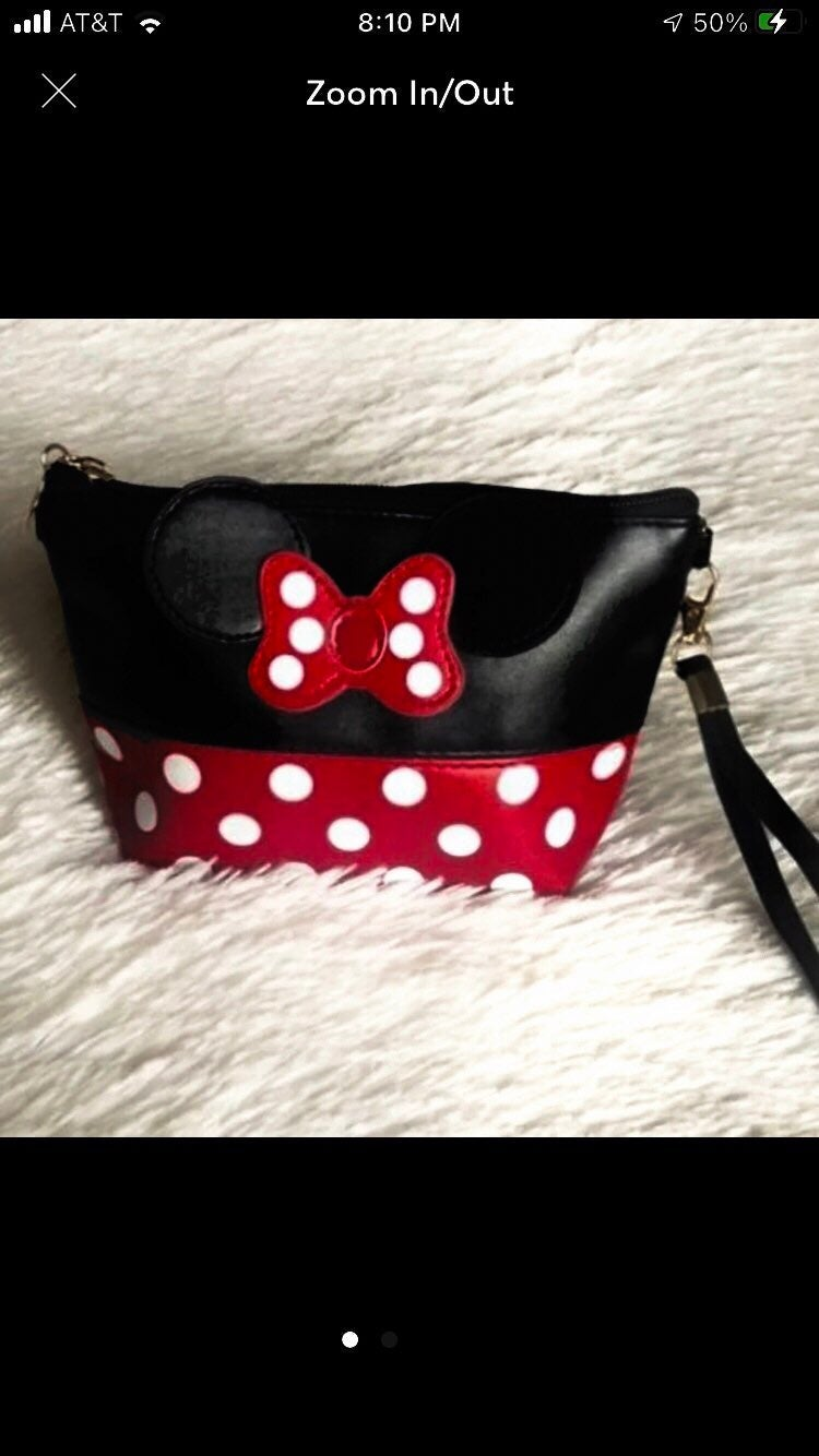 Cosmetic Bag for Women Minnie Mouse NEW