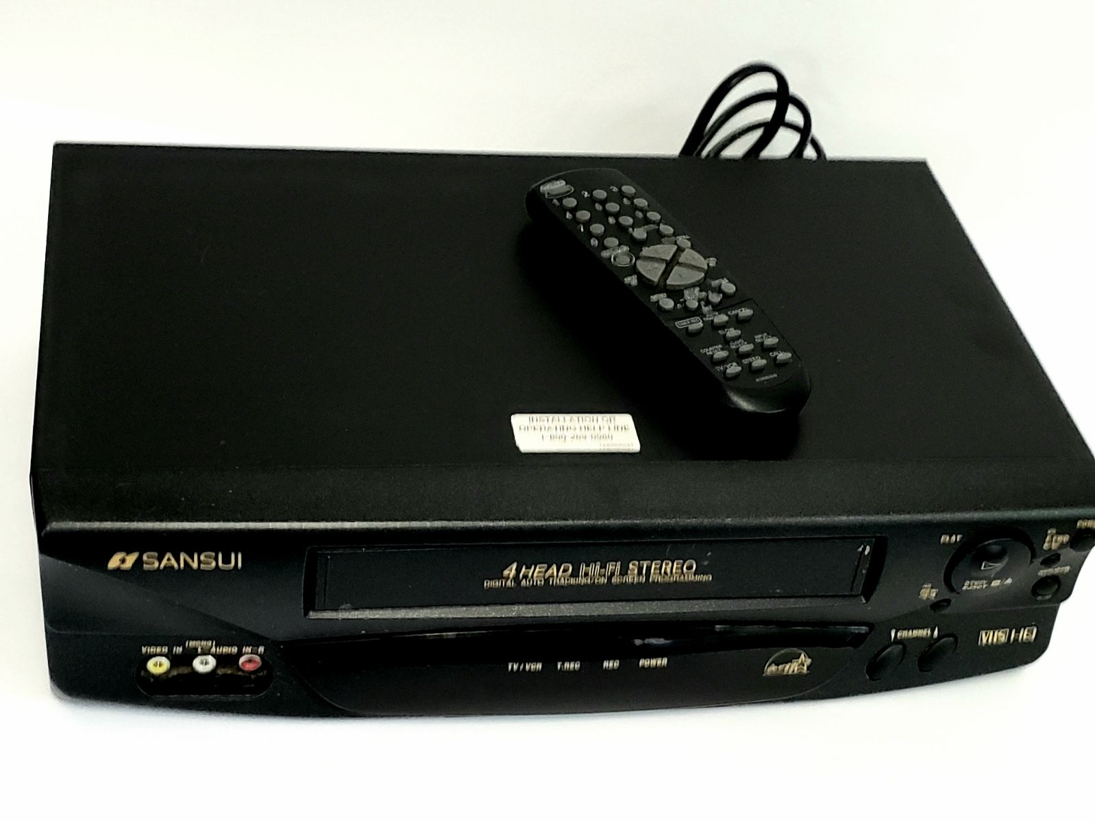 SANSUI VCR/ RECORDER PLAYER W/ Remote