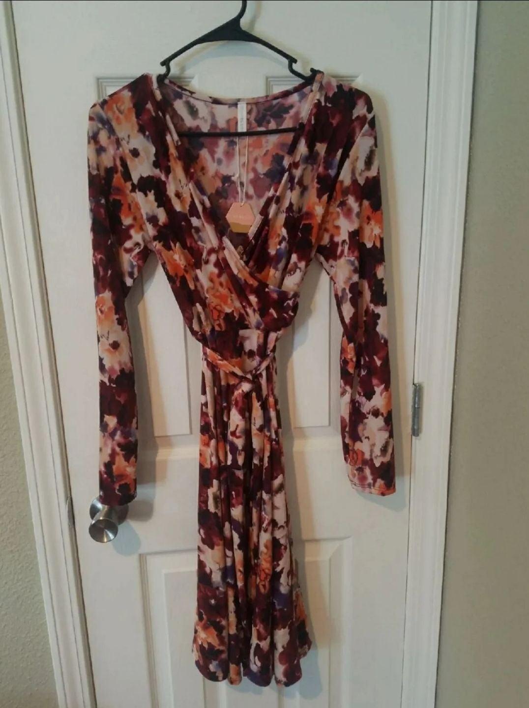 Pinkblush Small Floral Wrap Dress NEW