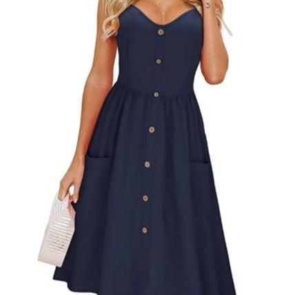 Women's Mid length button Dress