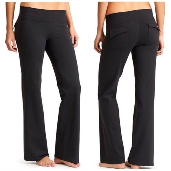Athleta Fusion Wide Leg Glap Pocket Yoga