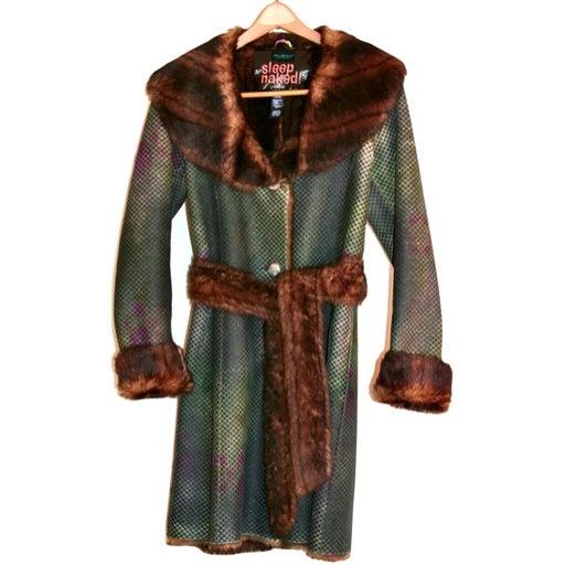 CUSTO BARCELONA Faux Fur Collar Coat