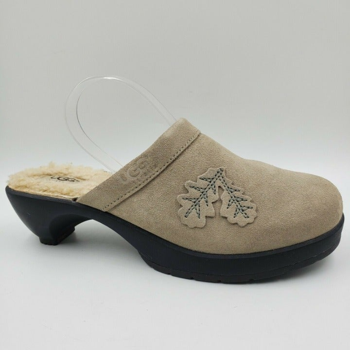 UGG Willow Foliage Suede Mule Clog Shoes