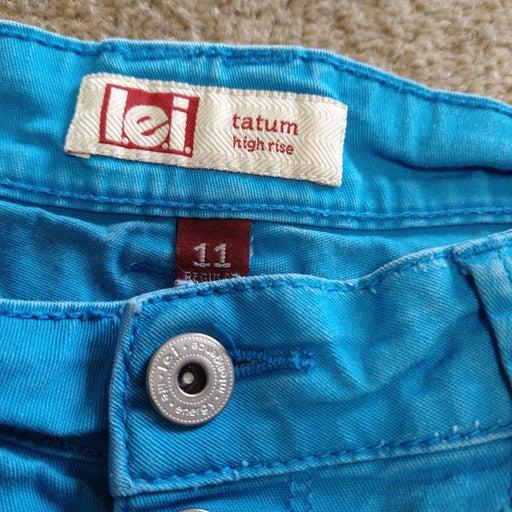 Blue Highrise Tummy Control Soft Shorts