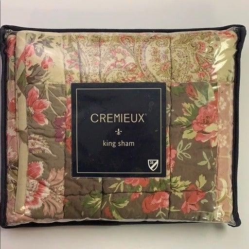 CREMIEUX King Pillow Sham AMESBURY NEW