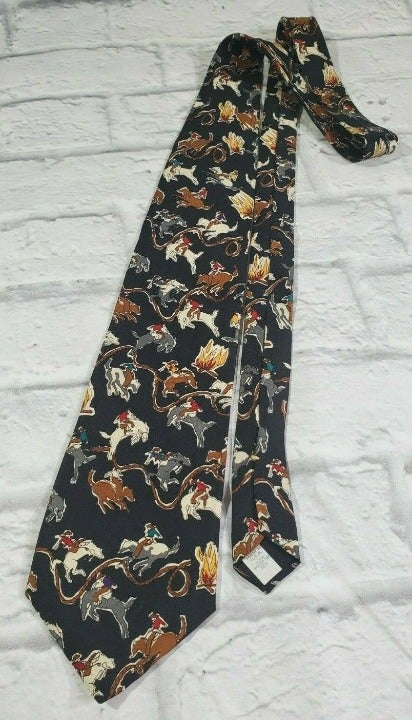 Tabasco Tie Mens Black Pointed Geometric