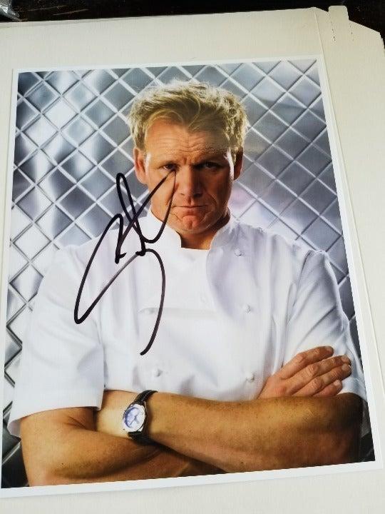 Gordon Ramsay signed 8x10 Photo RP