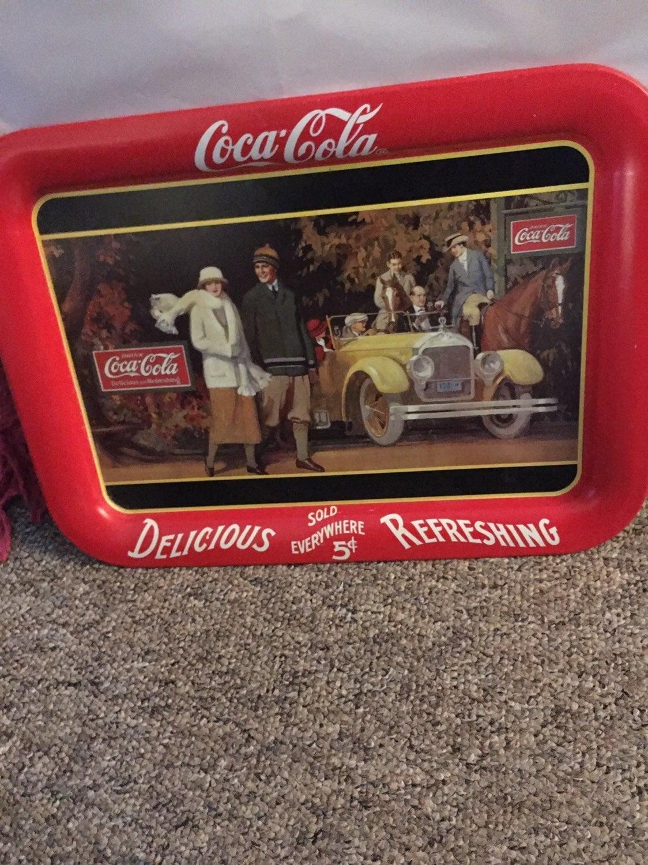 Vintage coke coca cola tray