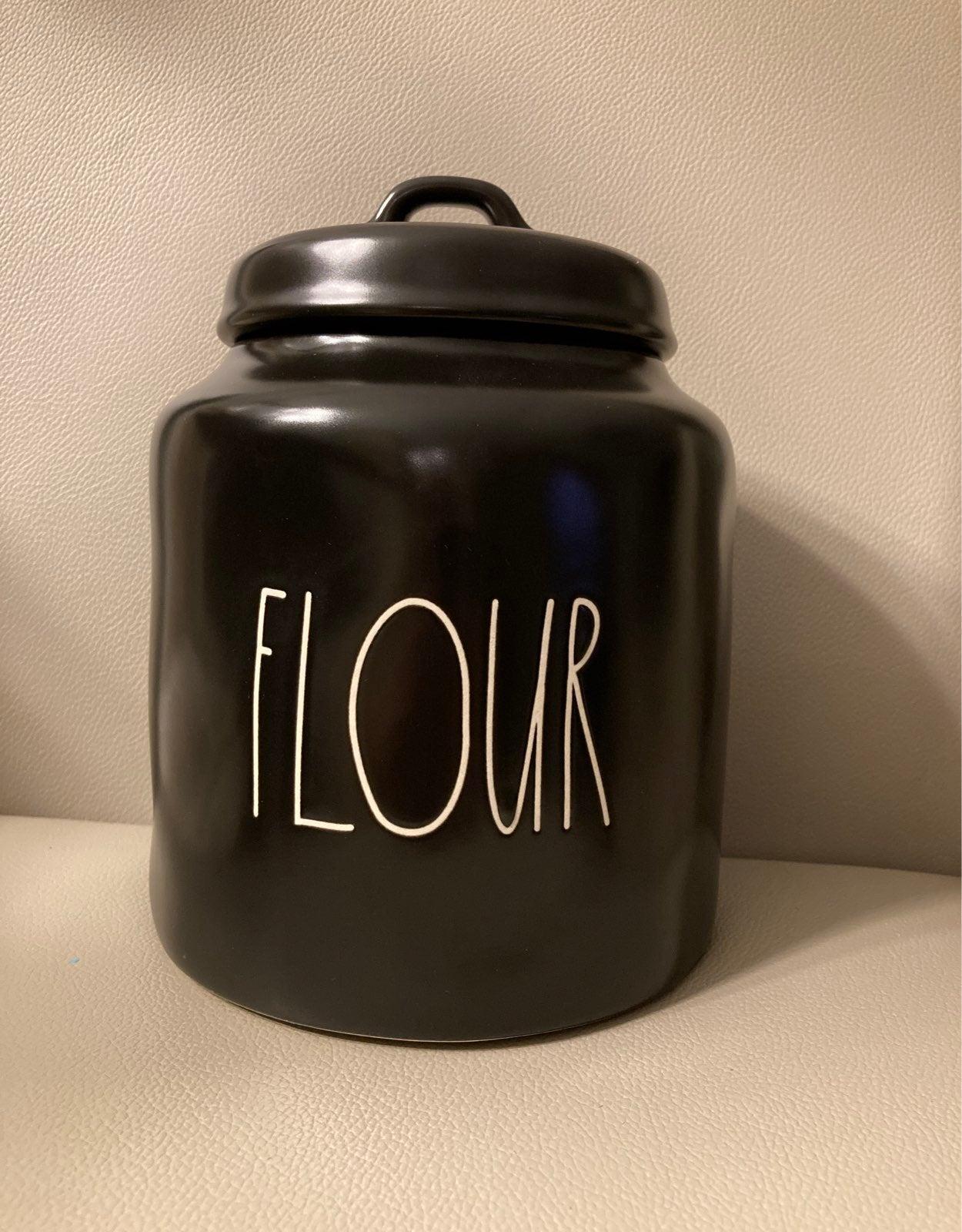 Rae Dunn Black Flour Canister