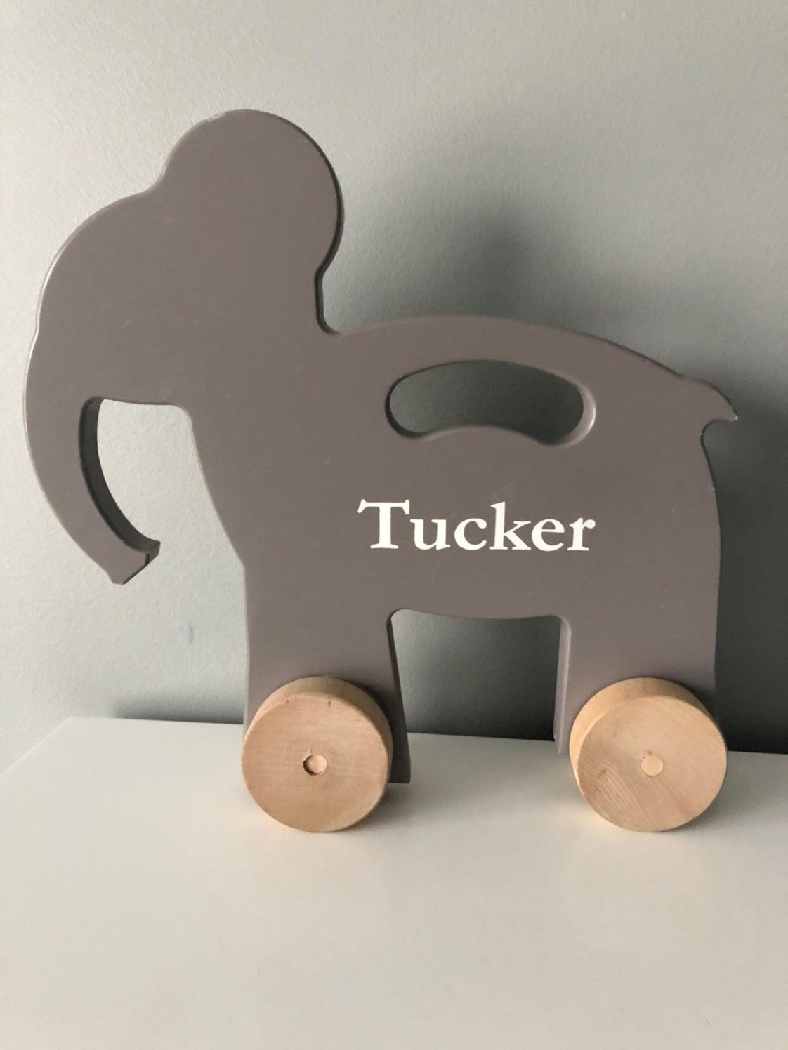 pottery barn kids wooden elephant