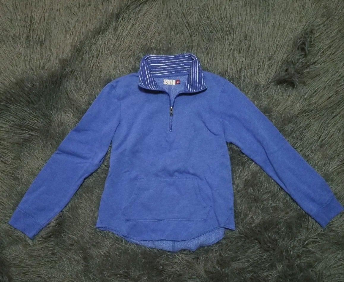 Blue Quarter Zip by SO