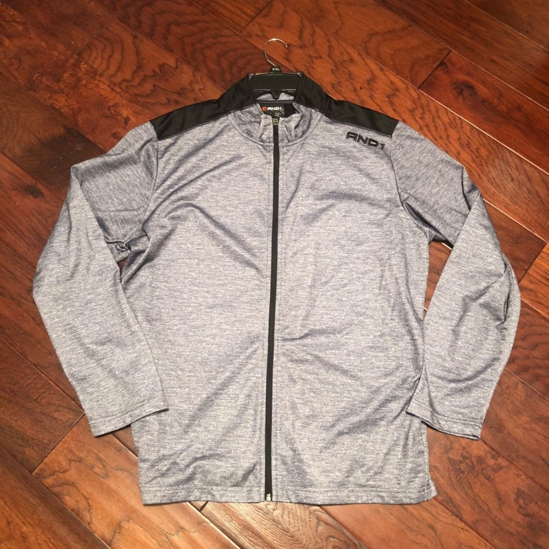 And1 mens zip up track jacket xl
