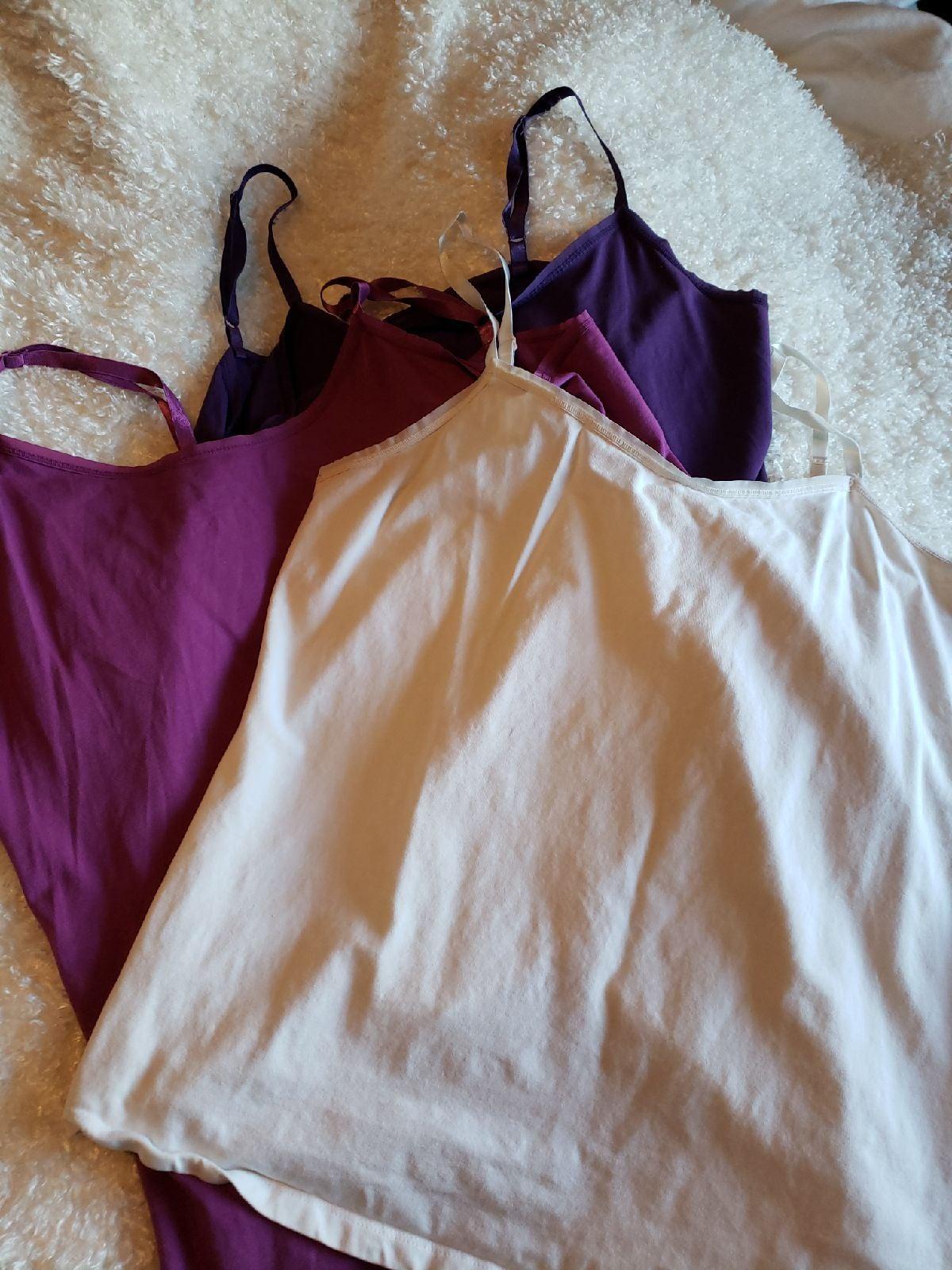 Lane Bryant cotton cami x3 lot 14 16