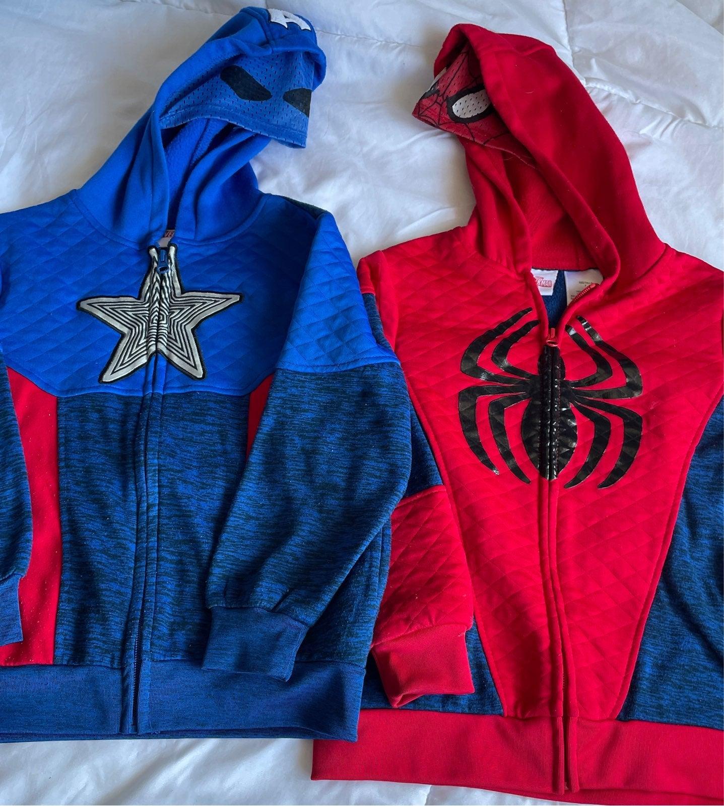 Marvel Bundle Hoodies Boys size 7