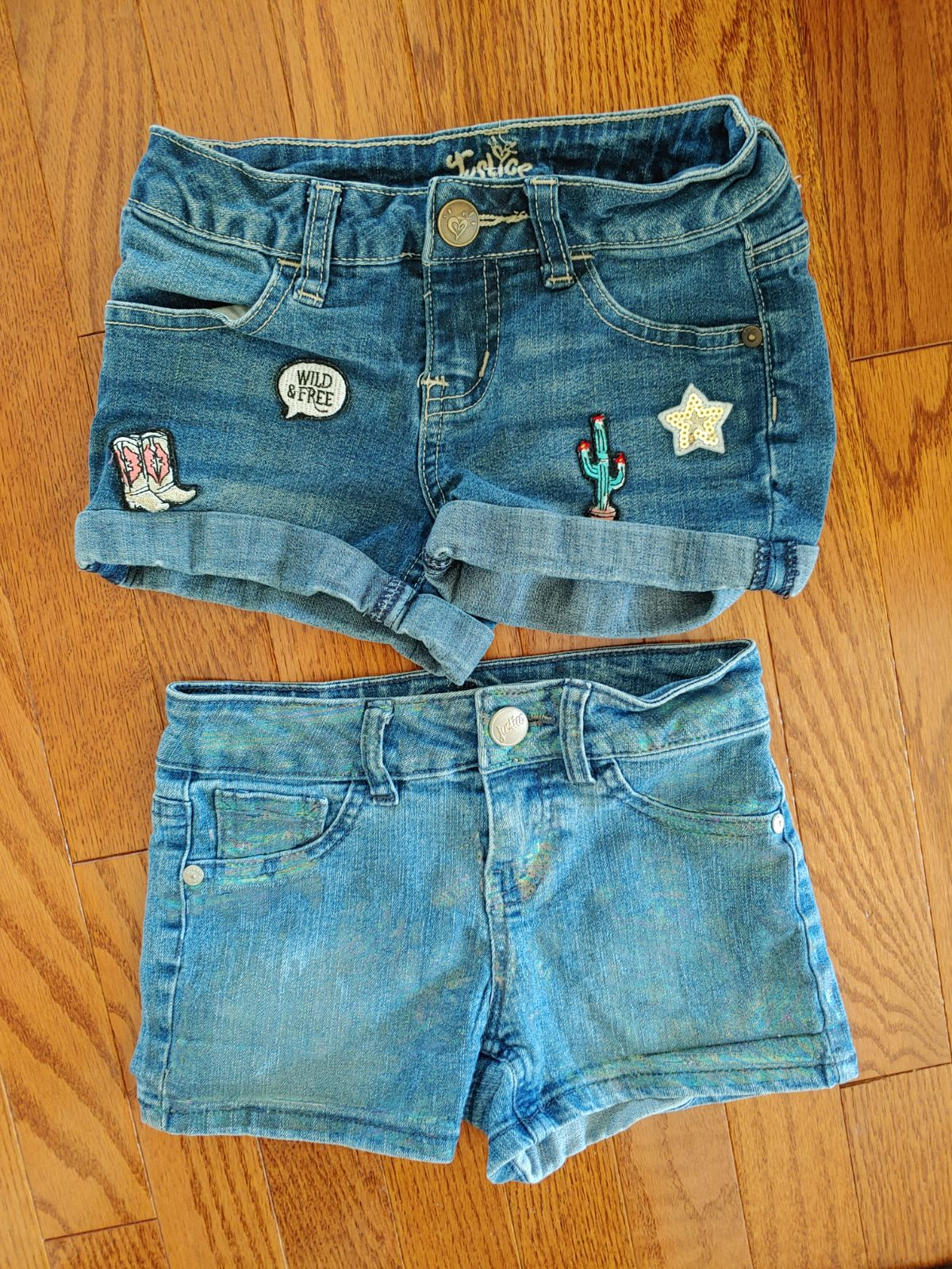 Justice shorts- 2 pairs