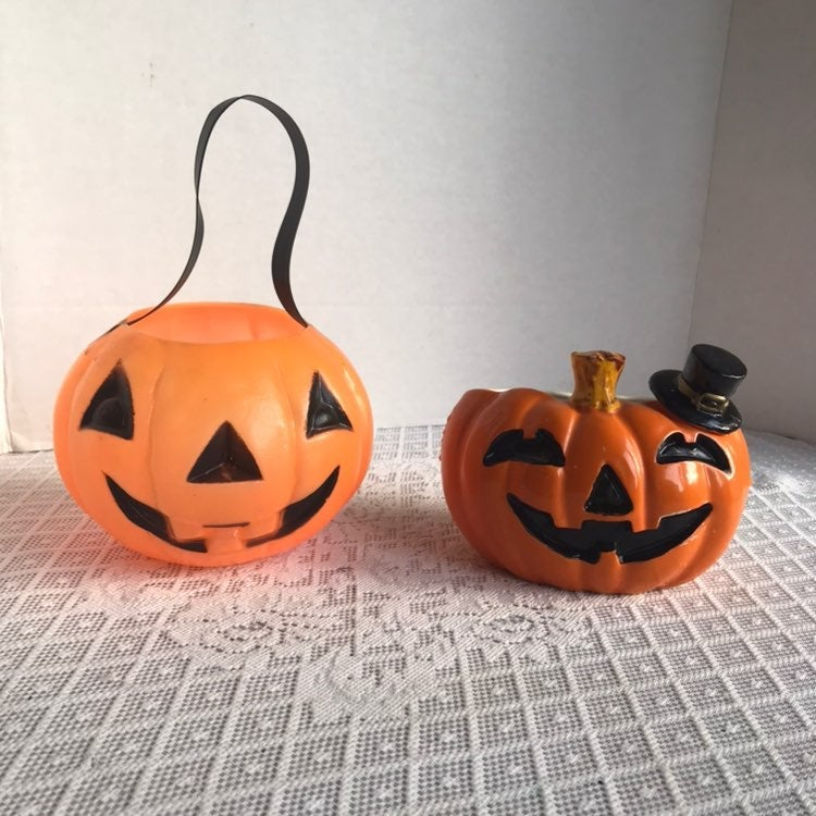 Set Two Halloween Jack O Lanterns