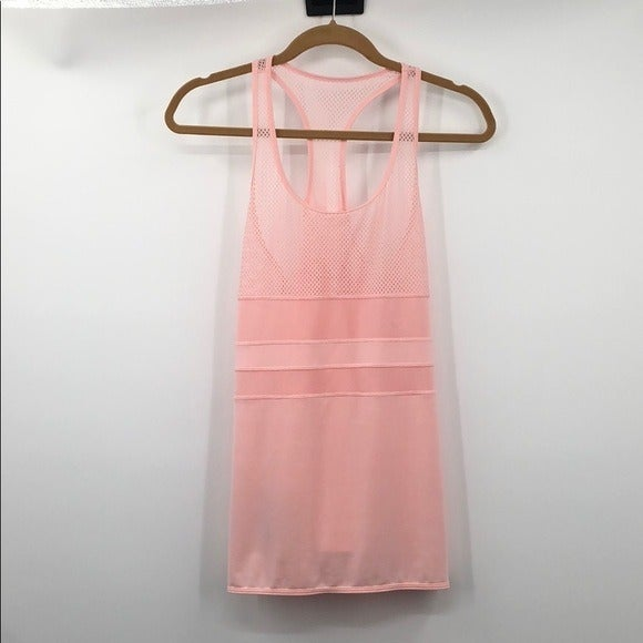 Lorna Jane Pale Pink Tank Top Size Med